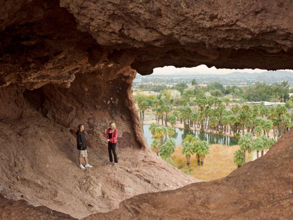 Phoenix AZs Hole in the Rock Hiking Trail Loop Is Easy