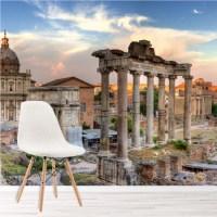 Rome Skyline Panoramic Wall Mural Italy Wallpaper Living ...