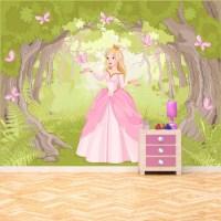 Princess Enchanted Woods Wall Mural Fairytale Wallpaper ...