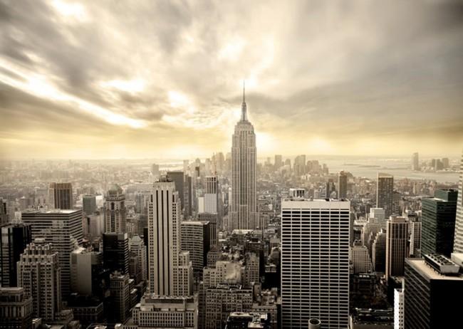 """La """"città che non dorme mai"""" Grattacieli Di New York Fotomurali Skyline Della Citta Carta Da Parati Soggiorno Photo Decor"""