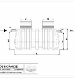 slide ii orange plan oil separator slide ii orange gravity light liquid separator side view  [ 1754 x 1239 Pixel ]
