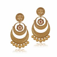 Earrings Designs In Gold Fancy Golden Earring Designs