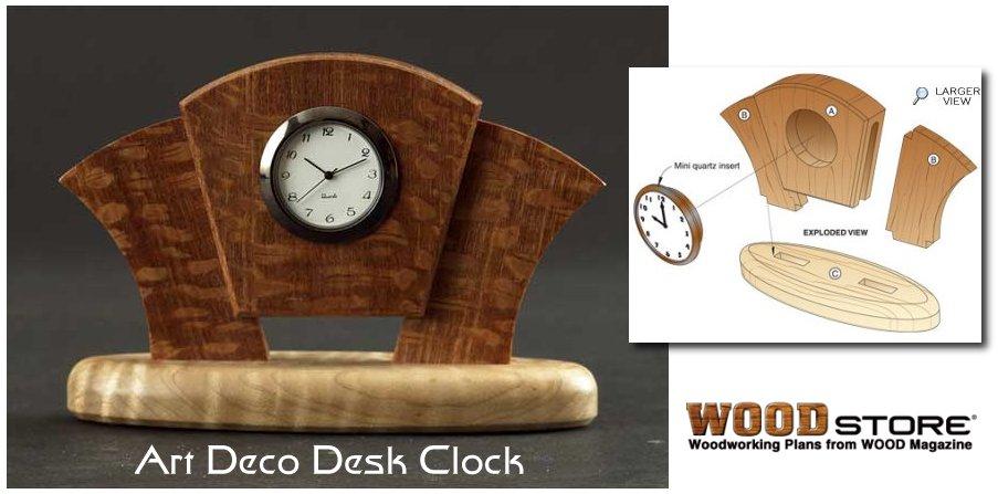 desk clock plans