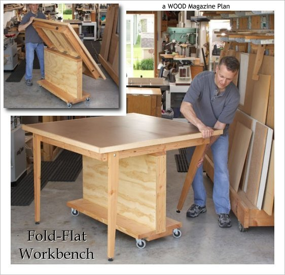 folding workbench diy