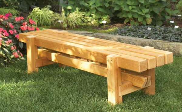 wood bench furniture plans