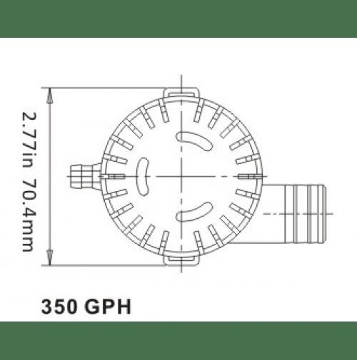 Bilge Pump 12V 350 GPH- BP1-G350-01- Seaflo