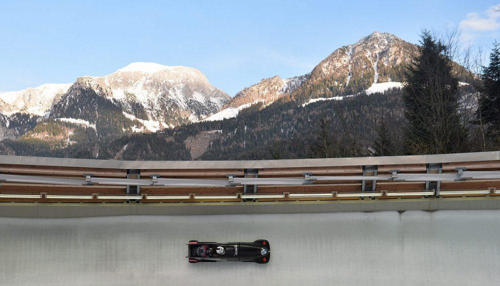 Un panoramica dello storico tracciato di bob di Koenigssee