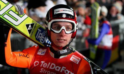 Sebastian Colloredo atleta azzurro di salto con gli sci 2017 italia