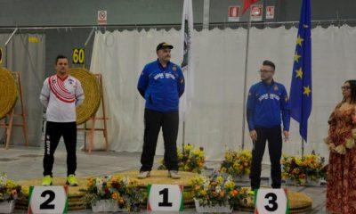Assoluti tiro con l'arco: il podio della gara maschile