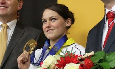 Carina Vogt, atleta tedesca vincitrice dell'oro iridato alle olimpiadi invernali di sochi 2014 e dell'oro iridato ai mondiali di sci nordico 2017 a Lahti