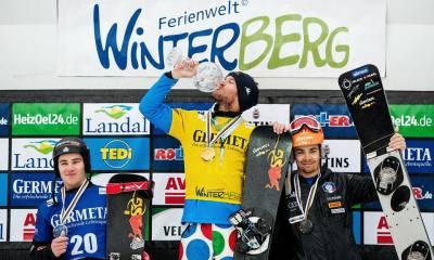 Aaron March, medaglia d'oro nello slalom parallelo nella Coppa del Mondo di snowboard 2017