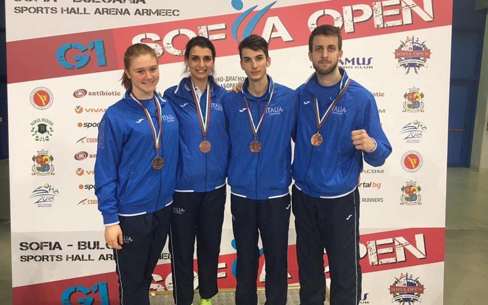 I medagliati azzurri al Sofia Open G1 2017 in Bulgaria, quattro bronzi per la Fita - federazione italiana taekwondo