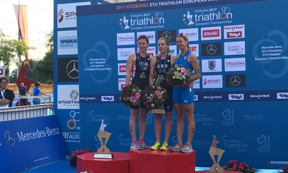 triathlon europei 2017 alice betto bronzo-italia podio europeo 2017 kitzbuhel austria