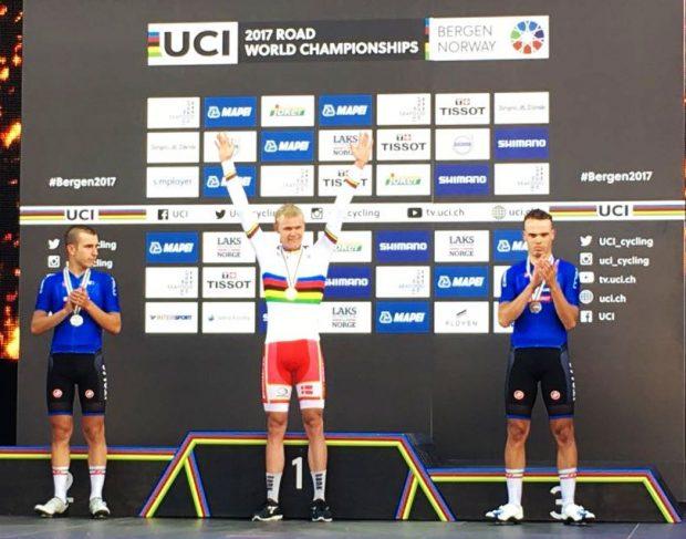 Mondiali ciclismo, Tris di Sagan. Quarto l'italiano Trentin