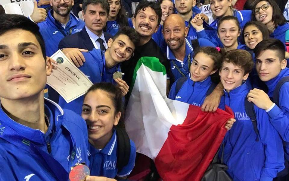 taekwondo europei junior 2017 simone alessio oro, dalila d'ambra bronzo, vito dell'aquila oro nazionale italiana