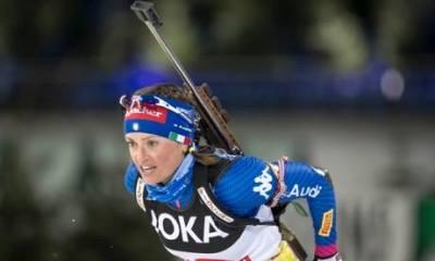 Karin Oberhofer: l'azzurra impegnata nella gara a inseguimento degli Europei di biathlon 2018 in scena a Ridaun, Val Ridanna