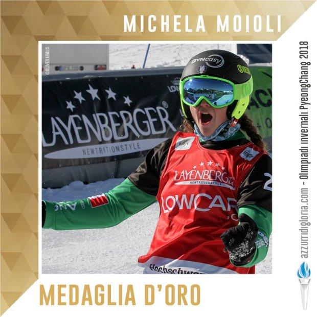 Michela Moioli conquidta la medaglia d'oro ai Giochi Olimpici invernali 2018!