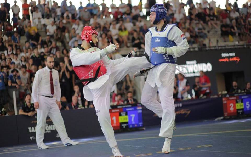 taekwondo grand prix roma 2018 roberto botta toni kanaet categoria -80 kg maschile italia croazia
