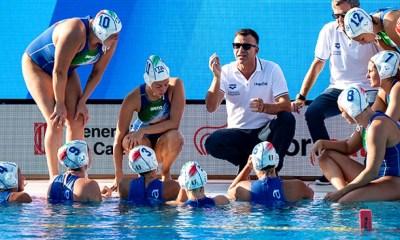 pallanuoto femminile europei 2018 barcellona barcelona 7rosa setterosa italia fabio conti italy waterpolo picornell european water polo championship 2018