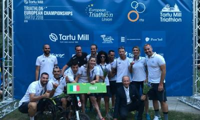 paratriathlon europei 2018 tartu italia giovanni achenza veronica yoko plebani anna barbaro bronzo francesca tibaldi italy triathlon paralimpico estonia