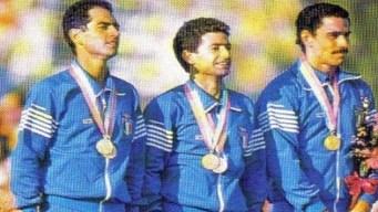 carlo massullo daniele masala pierpaolo cristofori oro olimpiadi los angeles 1984 italia pentathlon moderno italy gold olympics modern pentathlon