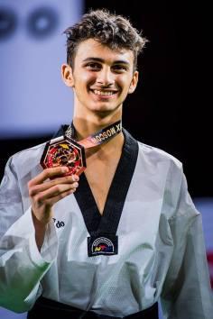 taekwondo grand prix mosca 2018 vito dell'aquila bronzo italia italy categoria -58 kg maschile moscow 2018