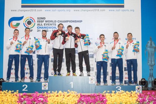 ISSF World Championship Target Sprint 2018 - Changwon, KOR - Final Target Sprint Men Team
