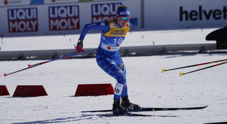 Elisa Brocard in azione ai Mondiali di Seefeld