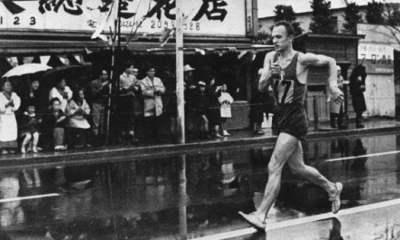 atletica olimpiadi 50 km di marcia abolita abdon pamich oro tokyo 1964 italia italy atletica leggera athletics march olympics giochi olimpici olimpiade gold