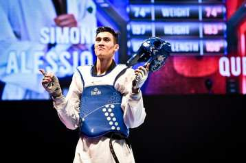 taekwondo mondiali manchester 2019 simone alessio oro italia italy world championships golden world champion categoria -74 kg maschile male