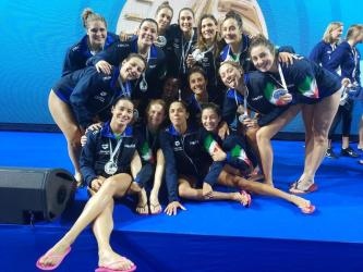 pallanuoto femminile superfinal world league 2019 italia argento setterosa 7rosa italy waterpolo super final world league 2019 women budapest duna arena silver medal