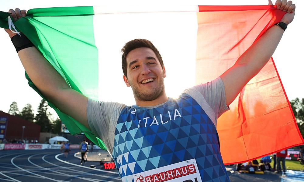 atletica europei U23 2019 leonardo fabbri argento lancio del peso italia italy atletica leggera campionati europei under 23 glave athletics silver