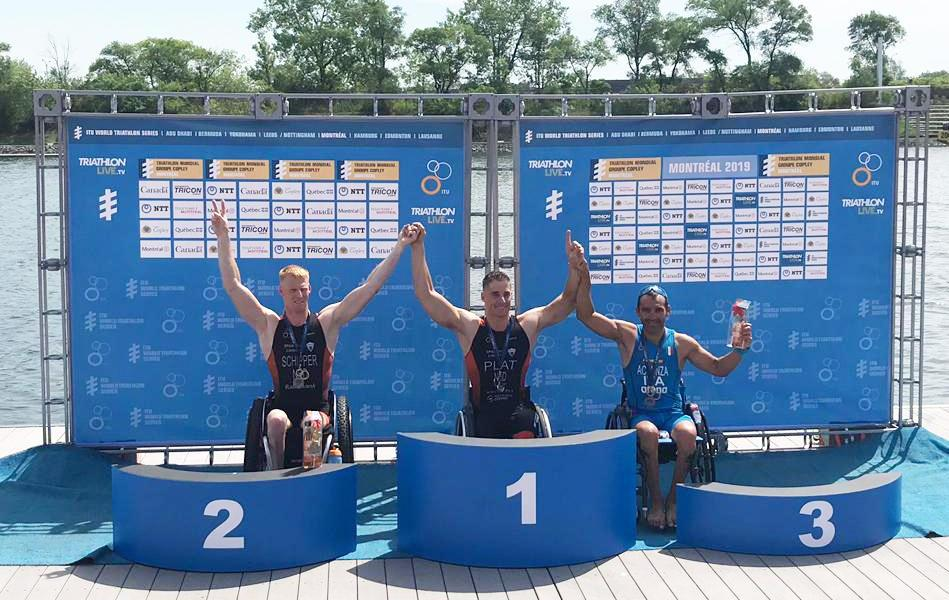 paratriathlon world series 2019 montreal giovanni achenza bronzo italy triathlon paralimpico world paratriathlon series bronze terzo posto third place podio canada