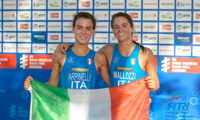 triathlon mondiali 2019 losanna beatrice mallozzi oro costanza arpinelli argento junior italia italy world championships world triathlon series grand final gold silver juniores world champion campionati del mondo 2019