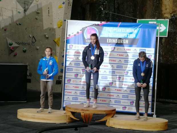 Laura Rogora, medaglia d'argento agli Europei 2019 di Arrampicata Sportiva, Edimburgo (SCO)