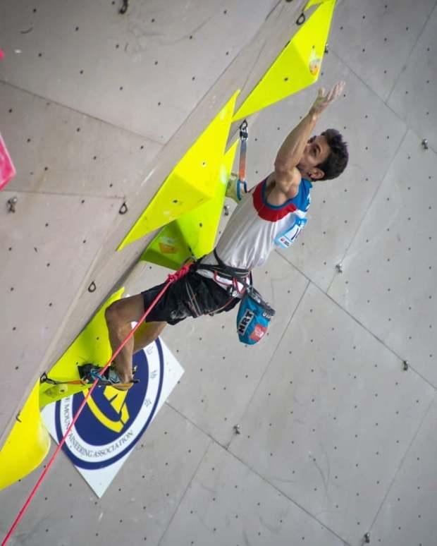 Stefano Ghisolfi in gara a Xiamen (CHN)