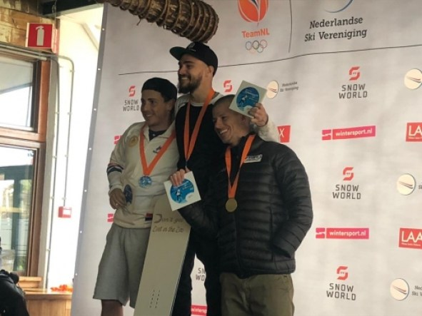 Jacopo Luchini sul podio a Landgraaf (NED)