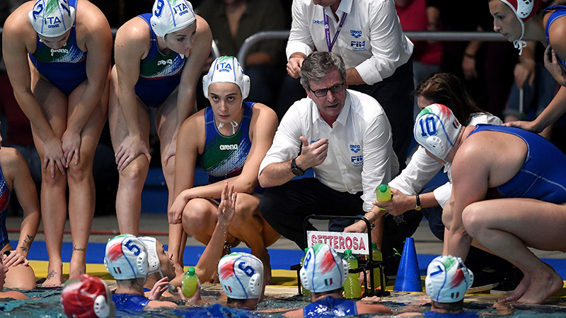pallanuoto femminile world league 2019 girone italia setterosa 7rosa italy waterpolo italia-olanda paolo zizza firenze women's waterpolo