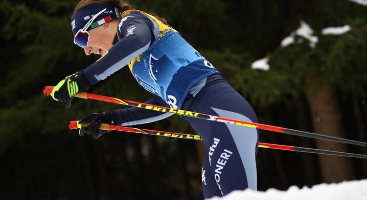 Anna Comarella in pista nella Val di Fiemme per il Tour de Ski 2020