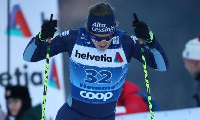 Lucia Scardoni in Val di Fiemme per l'odierna tappa del Tour de Ski 2020