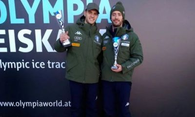 skeleton coppa europa 2020 igls innsbruck amedeo bagnis primo italia italy europe cup mattia gaspari first place fourth place