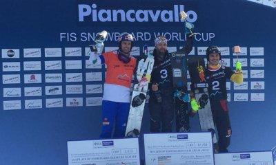 Roland Fischnaller sul podio a Piancavallo