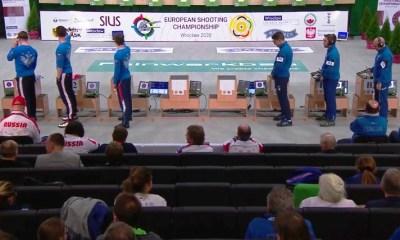 La finale a squadre della pistola 10m degli Europei 2020