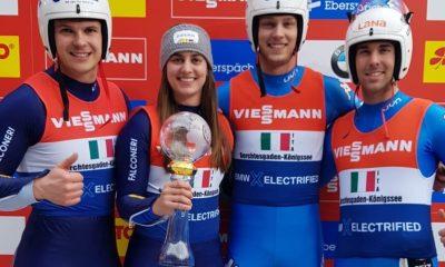 slittino coppa del mondo 2020 koenigssee team relay italia vittoria italy luge world cup 2019 2020 victory dominik fischnaller andrea voetter ivan nagler fabian malleier