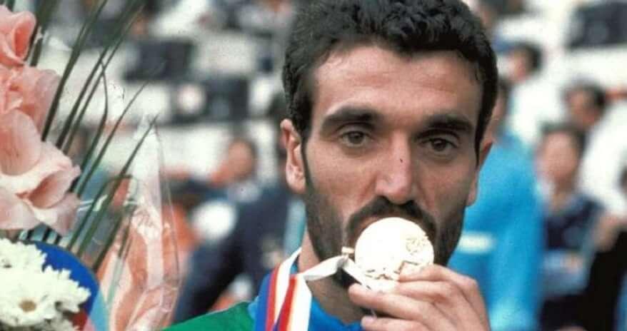 atletica gelindo bordin maratona italia oro olimpico seul 1988 atletica leggera maratona marathon athletics oro gold seoul 1988 maratona di Boston 1990 diadora