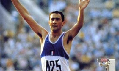 atletica leggera maurizio damilano marcia italia mosca 80 italy marcia 20 km Olimpiadi Mosca 1980 athletics moscow 1980 walking race walking oro gold fitwalking