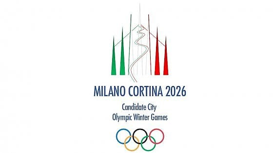 Milano-Cortina 2026: Legge Olimpica approvata in Parlamento. FONTE: giornalelavoce.it. In foto: logo Milano-Cortina 2026
