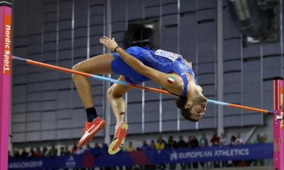 atletica leggera gianmarco tamberi salto in alto high jump gimbo athletics half shaved italia italy
