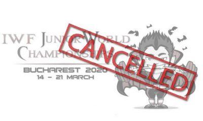 Campionati Mondiali Juniores 2020 di Sollevamento Pesi cancellati