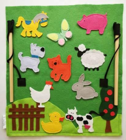 Tegeluspilt loomadega Krutskidesign